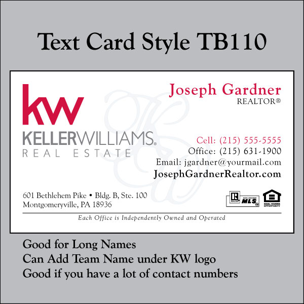 Text Card Style TB110