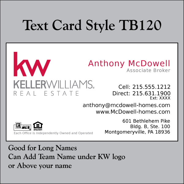 Text Card Style TB120