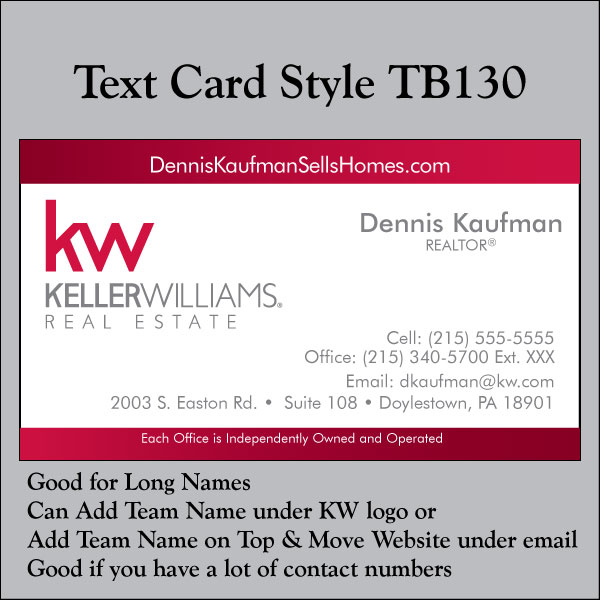 Text Card Style TB130