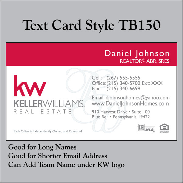 Text Card Style TB150